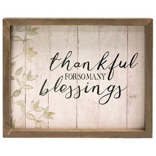 Framed Sign - Thankful