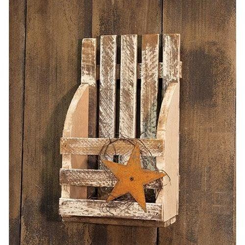 Lath Wood Wall Pocket