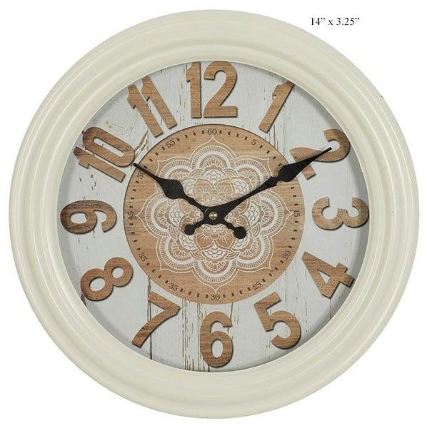 "Farmhouse Clock, 14"""