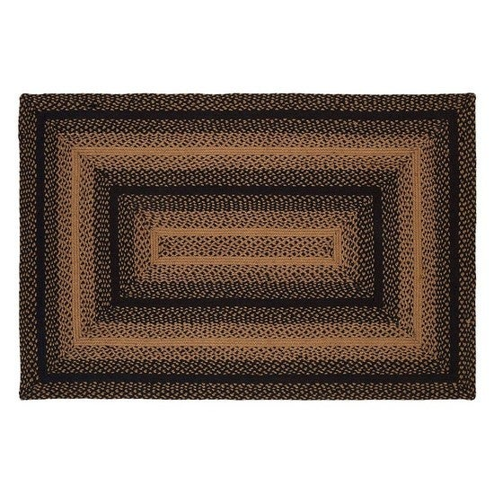 "Braided Rug 22"" x 72""  Ebony"