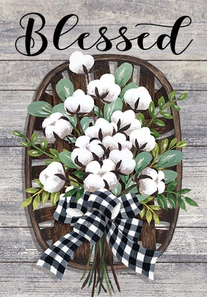 Garden Flag - Cotton Basket