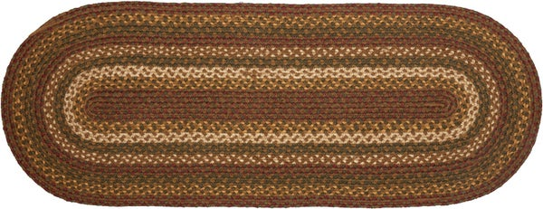 "Braided Table Runner 11"" x 36""  Tea Cabin"