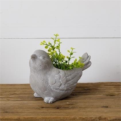 Stoneware Bird Planter