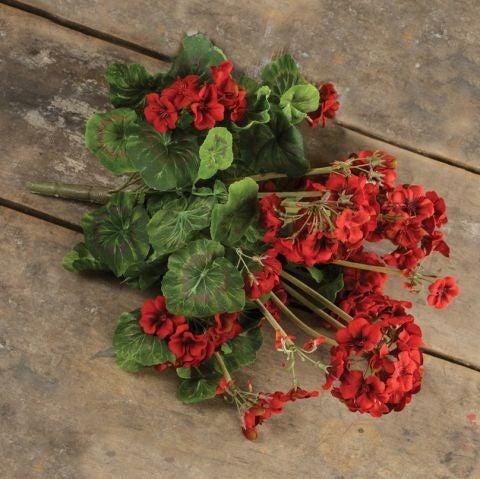"""20"""" Red Geranium Bush"""