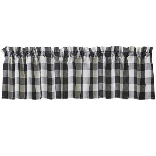 Black & White Buffalo Check Valance