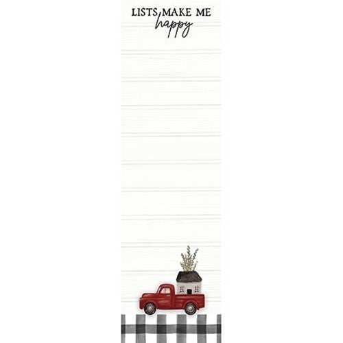 Magnetic Notepad - Lists Make Me Happy