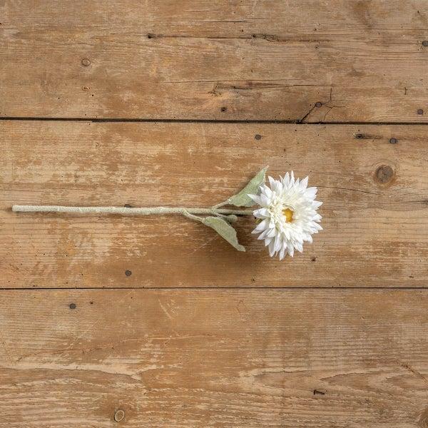 """16"""" White Sunflower Stem"""