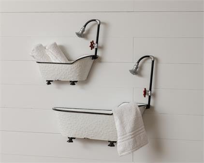 Half Bath Tub Wall Bucket