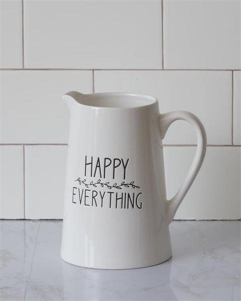 Ceramic Pitcher - Happy Everything