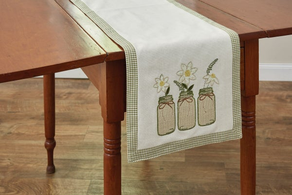 Mason Jar Table Runner, 54""