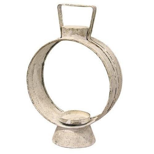 Small White Open Round Lantern