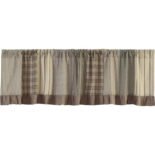 Valance - Sawyer Mill Charcoal Patchwork