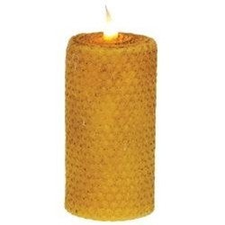 "Honeycomb Wrapped Pillar Candle, 2"" x 4"""