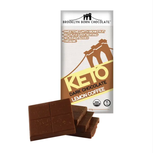 Lemon Coffee Keto Dark Chocolate Bar