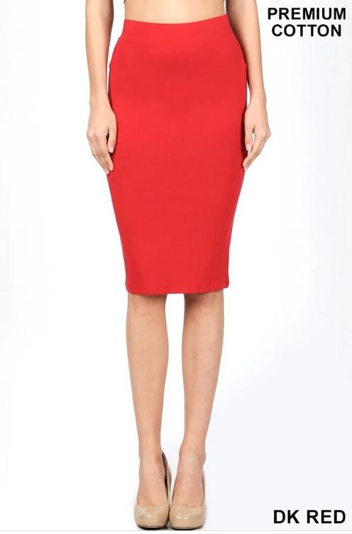 Pencil Skirt ~ Leah ~ Multiple Colors