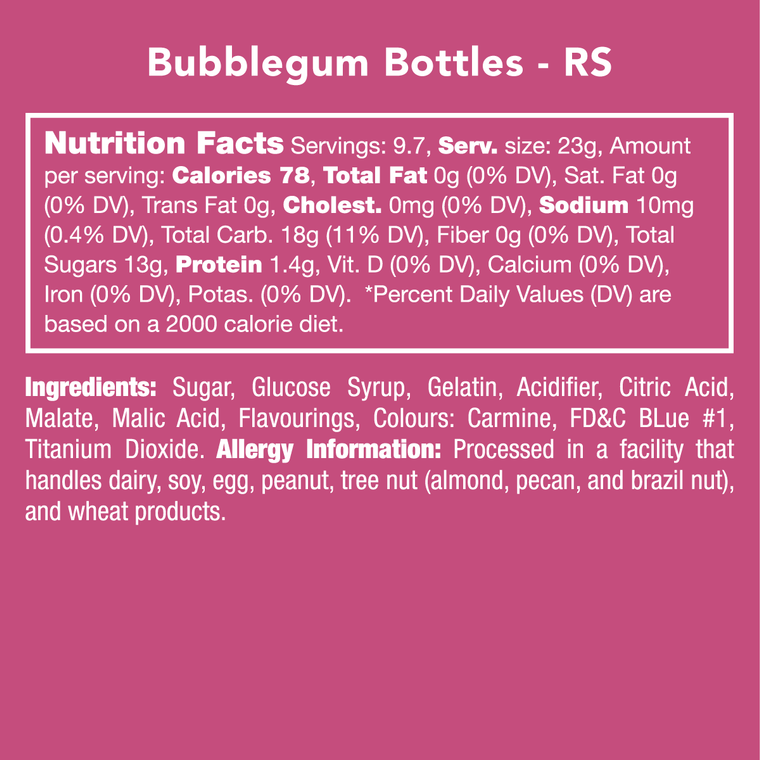 Candy Club Bubblegum Bottles