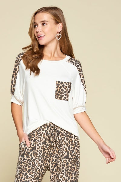 Animal Print Loungewear Top