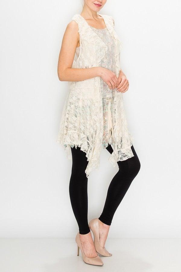 Lace Vest ~ Frannie