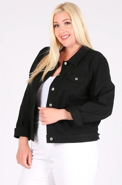 Plus Denim Jacket ~ Kendra