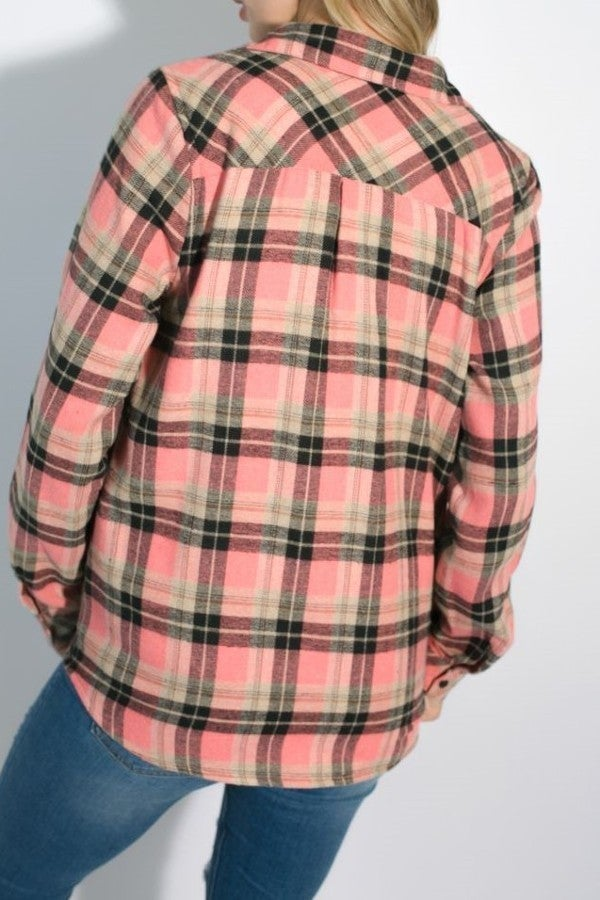 Fleece Lined Flannel Top ~ Marcia
