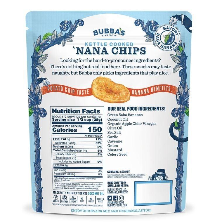 Bubba's Blazing Buffalo 'Nana Chips