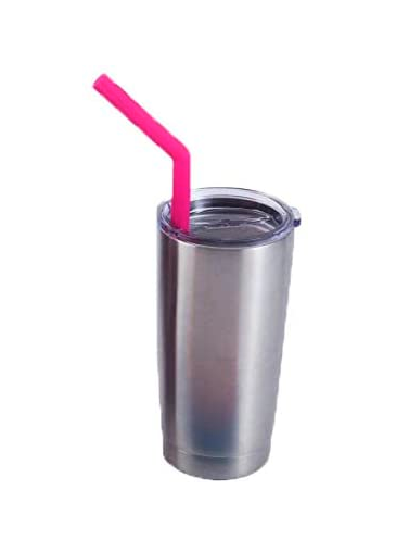Pink Silicone Reusable Straw Kit
