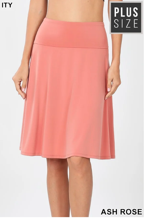 Plus Skirt ~ Nadia ~ Available in Multiple Colors