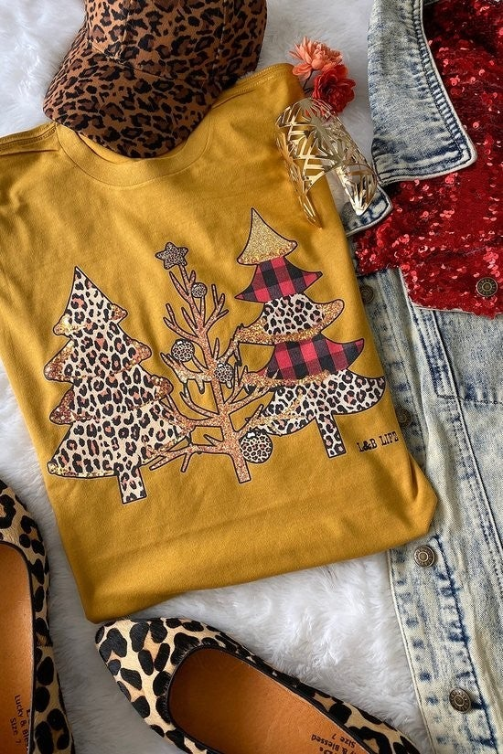Graphic Tee ~ Cheetah Trees
