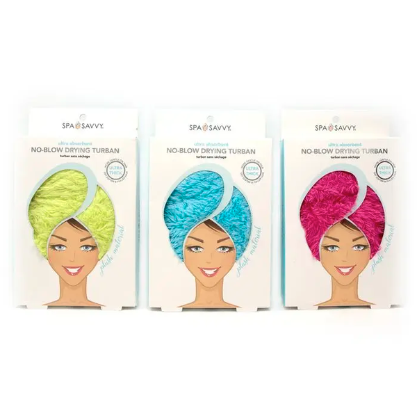 Microfiber Hair Towel by Spa Savvy