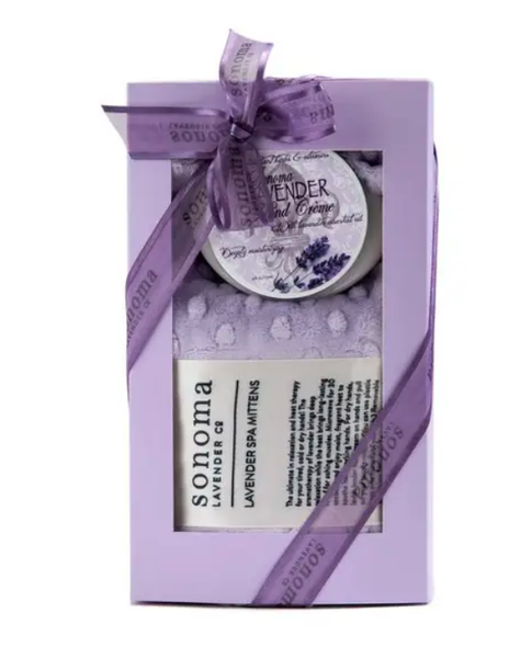 Dot Mittens and Hand Crème Gift Set