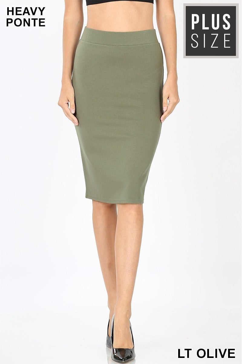 Knee Length Skirt ~ Loni ~ Available in Multiple Colors