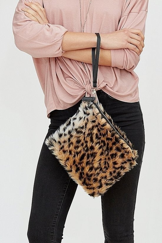 Leopard Clutch ~ Allison