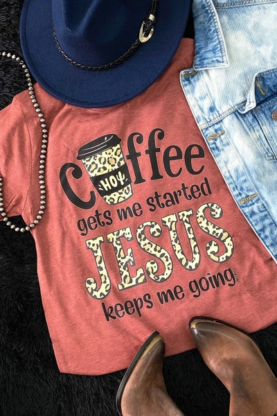Graphic Tee ~ Coffee & Jesus