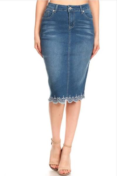 Denim Skirt ~ Lacy