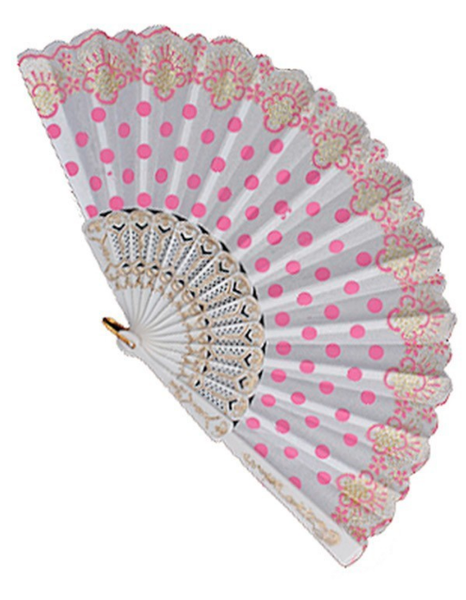 Polka Dot Print Fan ~ Lindy