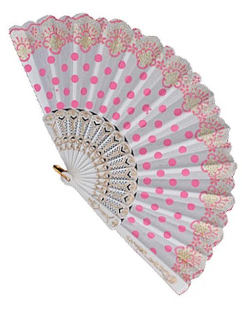 Polka Dot Print Fan ~ Lindy