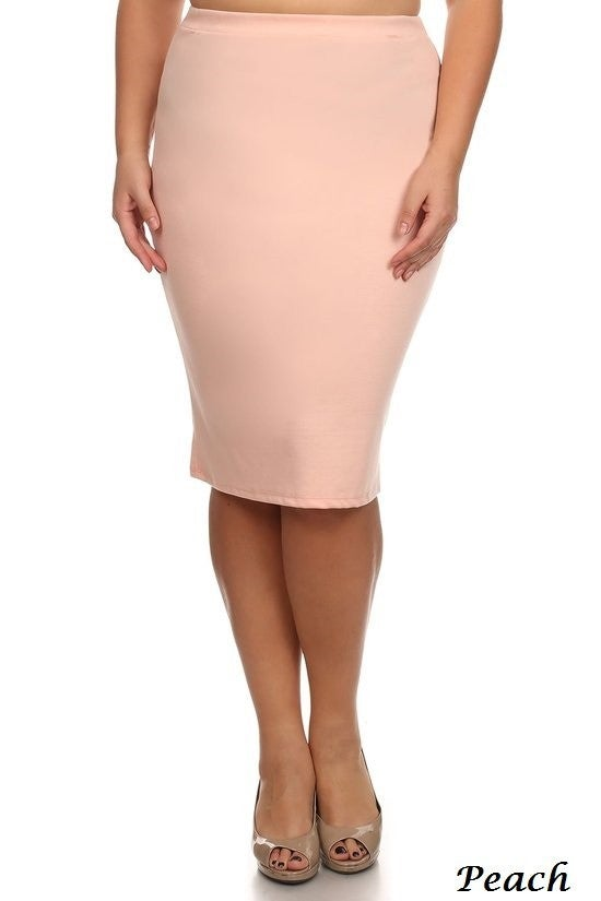 Straight Skirt ~ Mia ~ Multiple Colors