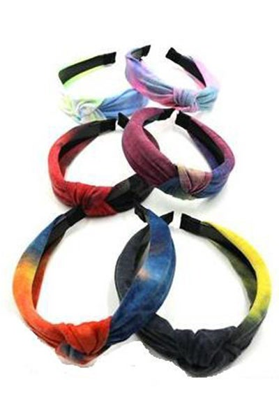 Center Knot Fashion Head Band in Tie Dye ~ Kierston