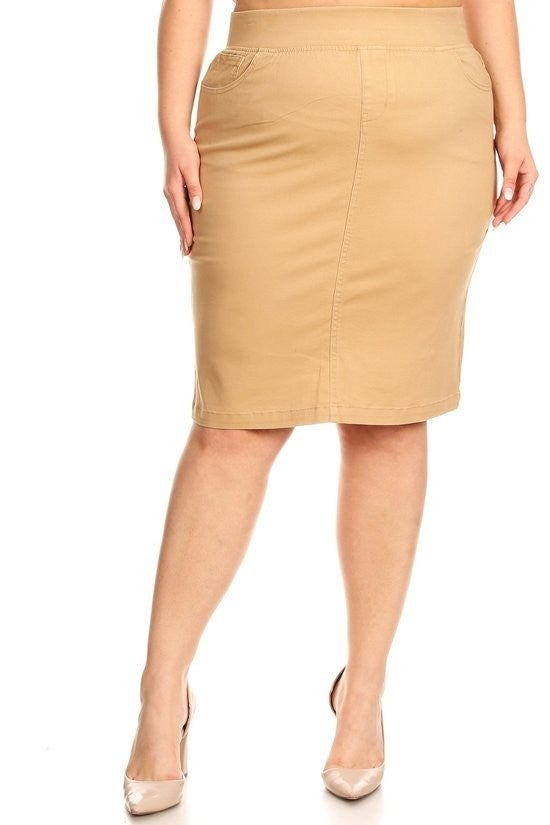 Plus Twill Skirt ~ Myra