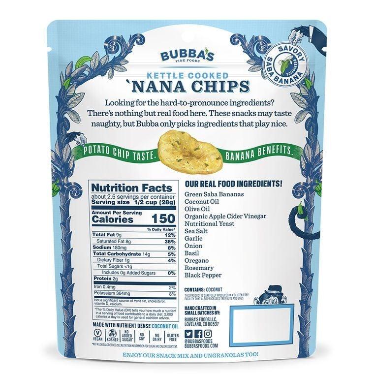 Bubba's Grand Garlic Parm 'Nana Chips