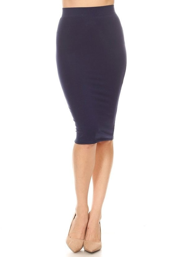 Pencil Skirt ~ Lee ~ Multiple Colors