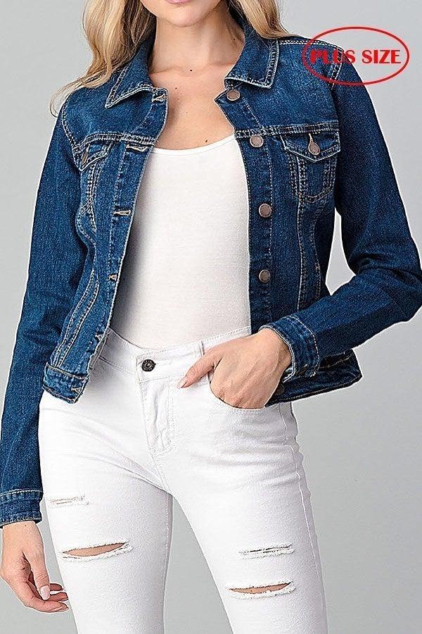 Plus Denim Jacket ~ Dory