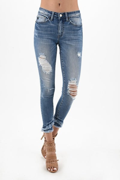 KanCan Light Wash Distressed Skinny