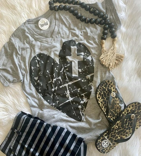 Cross Heart Tee