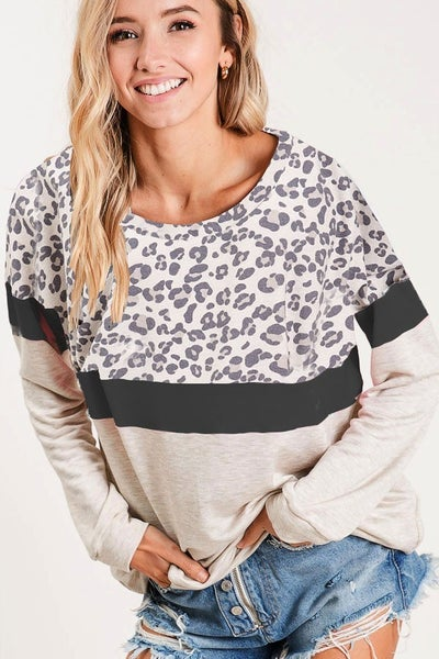 Terry Wide Neck Sweatshirt