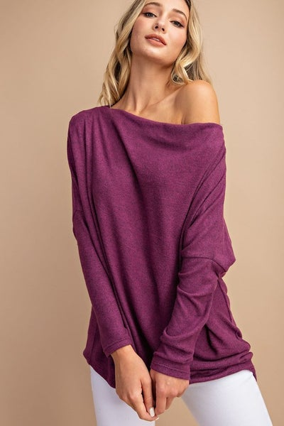 Long Sleeve Off Shoulder Tunic