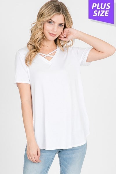 V-Neck Criss Cross Top