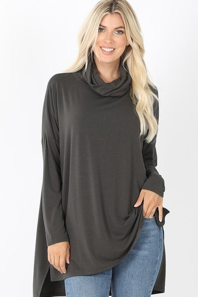 Cowl High-Low Neck Top