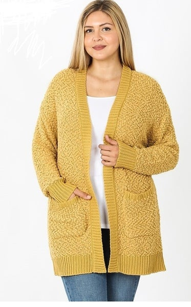 Plus Popcorn Sweater Cardigan