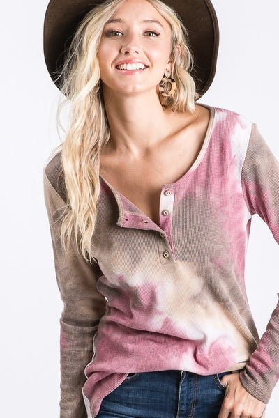 Tie Dye Long Sleeve Top